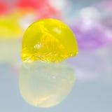 Abstrakt begrepptexturer och modeller av brutna gelébollar Arkivfoto