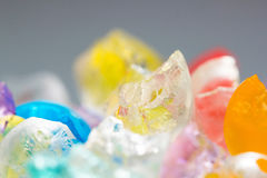 Abstrakt begrepptexturer och modeller av brutna gelébollar Royaltyfri Foto