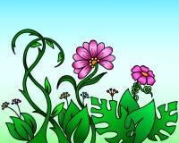 Abstrakt begreppväxter och blommor Royaltyfri Bild