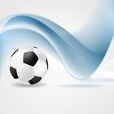 Abstrakt begreppvågor och fotboll Arkivfoto