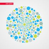 Abstrakt beiga för blå gräsplan bubblar vektormodellen dekorativt designelement Lycklig illustration för garnering, begreppsunged Royaltyfri Fotografi