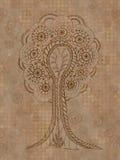 Abstrakt beige grungeträd Arkivbild