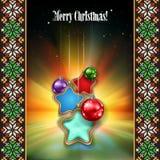 Abstrakt berömbakgrund med jul december Royaltyfri Foto