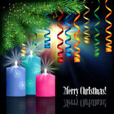 Abstrakt berömhälsning med juldekoren Royaltyfria Foton