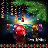 Abstrakt berömhälsning med juldekoren Arkivfoto