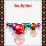 Abstrakt berömhälsning med juldekoren Arkivbilder