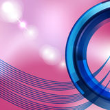 Abstrakt beståndsdel för vågfärgdesign. Vektorillustration /EPS10 Arkivfoto