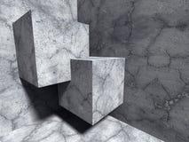 Abstrakt betong skära i tärningar arkitekturkonstruktionsbakgrund Arkivfoto