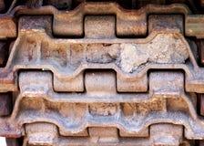 Abstrakt bild av behållarespår Behållaredäckmönstergummihjul Royaltyfria Foton