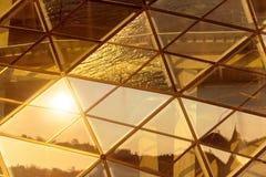 Abstrakt bild av en modern byggnad royaltyfri fotografi