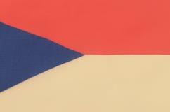 Abstrakt bild av ett fragment av den tjeckiska flaggan Arkivfoton