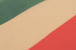 Abstrakt bild av ett fragment av flaggan av Italien Royaltyfri Foto