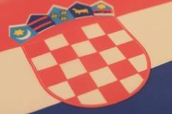 Abstrakt bild av ett fragment av flaggan av Kroatien Royaltyfri Foto