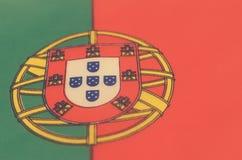 Abstrakt bild av ett fragment av flaggan av Portugal Royaltyfri Bild