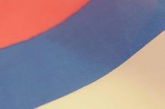 Abstrakt bild av ett fragment av flaggan av Ryssland Royaltyfri Foto