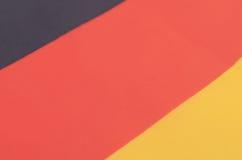 Abstrakt bild av ett fragment av flaggan av Tyskland Royaltyfria Foton