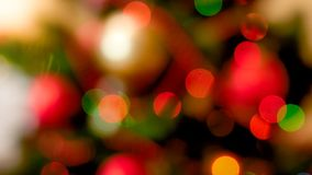 Abstrakt bild av färgrika ljusa bokehs och cirklar Göra perfekt för julbackgorund royaltyfri bild