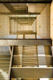 Abstrakt bild av industriell trappa Royaltyfria Foton
