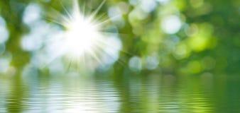 Abstrakt bild av närbilden för naturvattenbakgrund Arkivbilder