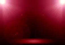Abstrakt bild av strålkastaren för signalljus 2 för röd belysning på golvsten Arkivfoto