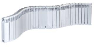 Abstrakt bild - en lång uppsättning av aluminiumelementavsnittet stock illustrationer