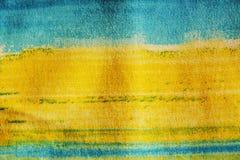Abstrakt bild med blått och guling Royaltyfri Fotografi