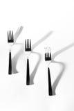 abstrakt bildkök Skugga för tre gaffel Arkivfoton