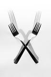 abstrakt bildkök Skugga för två gaffel Royaltyfria Bilder