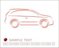 abstrakt bilkontur Arkivfoto