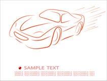 abstrakt bilkontur Arkivfoton