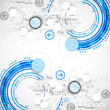 Abstrakt blå affärsvetenskap eller teknologibakgrund Arkivbild