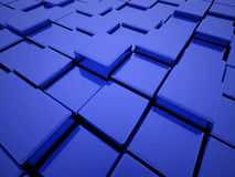 Abstrakt blå ask Arkivfoton