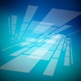 Abstrakt blå bakgrund Arkivbild