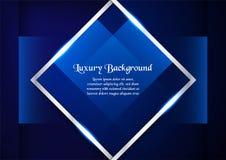 Abstrakt blå bakgrund i högvärdigt begrepp med kopieringsutrymme vikarier Royaltyfria Foton
