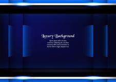 Abstrakt blå bakgrund i högvärdigt begrepp med kopieringsutrymme vikarier Arkivbilder