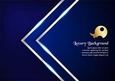 Abstrakt blå bakgrund i högvärdigt begrepp med kopieringsutrymme vikarier Royaltyfri Bild
