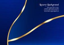 Abstrakt blå bakgrund i högvärdigt begrepp med kopieringsutrymme vikarier Royaltyfri Foto