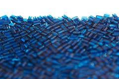 Abstrakt blå bakgrund med en mosaikmodell Arkivfoton