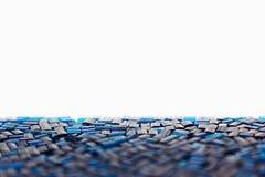 Abstrakt blå bakgrund med en mosaikmodell Royaltyfria Bilder