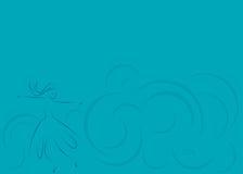 Abstrakt blå bakgrund med flickan som twirling stock illustrationer