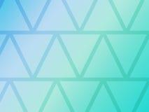Abstrakt blå bakgrund med geometriska triangelformer Royaltyfri Bild