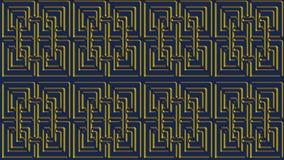 Abstrakt blå bakgrund med guld- modeller, rasterbild för th Arkivfoto