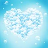 Abstrakt blå bakgrund med hjärtaform. arkivfoton