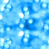 Abstrakt blå bakgrund med suddighetsbokeh Arkivfoton