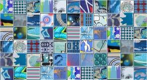 Abstrakt blå bakgrund som göras med små illustrationer stock illustrationer