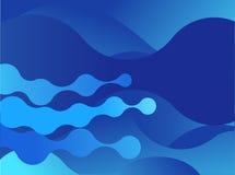 Abstrakt blå bakgrundsdesign Arkivfoton