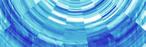 Abstrakt blå banertitelrad Arkivbilder