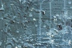 Abstrakt blå betongvägg Royaltyfri Foto