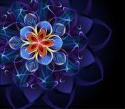 Abstrakt blå blomma Royaltyfri Foto