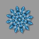 abstrakt blå blomma Fotografering för Bildbyråer